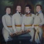 Četiri časnika Vucheticha iz Kerpen regimente oko 1815. god.