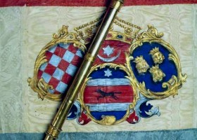 Croatian banal sceptre from 1806 on the banal and state flag