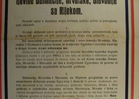 Croatian coronation oath of King Karl I. (IV.) in which the kingdom of Croatia, Dalmatia, Slavonia with Rijeka are considered a unified single legal subject under the Hungarian crown.